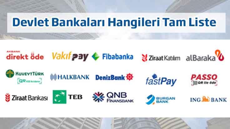 Devlet Bankaları Hangileri Tam Liste Türkiye'de Toplam Kaç Banka Var