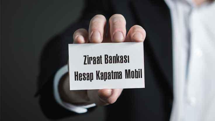 Ziraat Bankası Hesap Kapatma