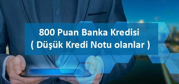 800 Puana Hangi Bankalar Kredi Verir ayrıntılı bilgi