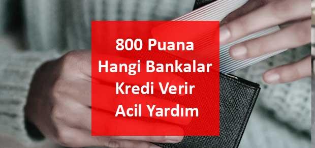 800 Puana Hangi Bankalar Kredi Verir Acil Yardım